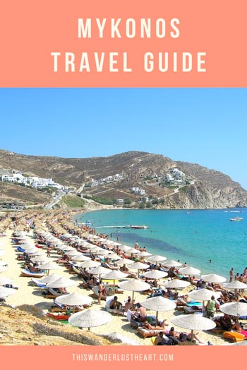 Check out this travel guide some wanderlust worthy traveling tips to the beautiful island of Mykonos, Greece