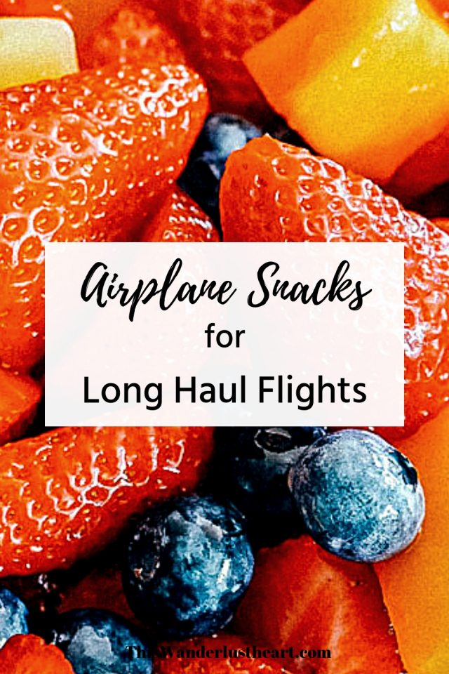 airplane snacks long flights Pinterest