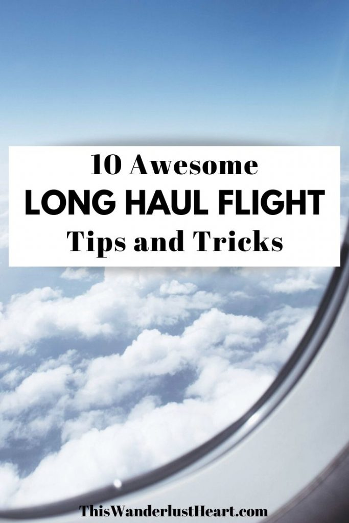 f you are going on an international or long flight, here are some amazing tips you will need to know. These 10 travel tips will help you stay healthy, comfortable and survive your long flight with ease! #longflighttips #tipsforlongflights #longhaulflight #jetlag #longflightshacks #thingstodoonlongflights