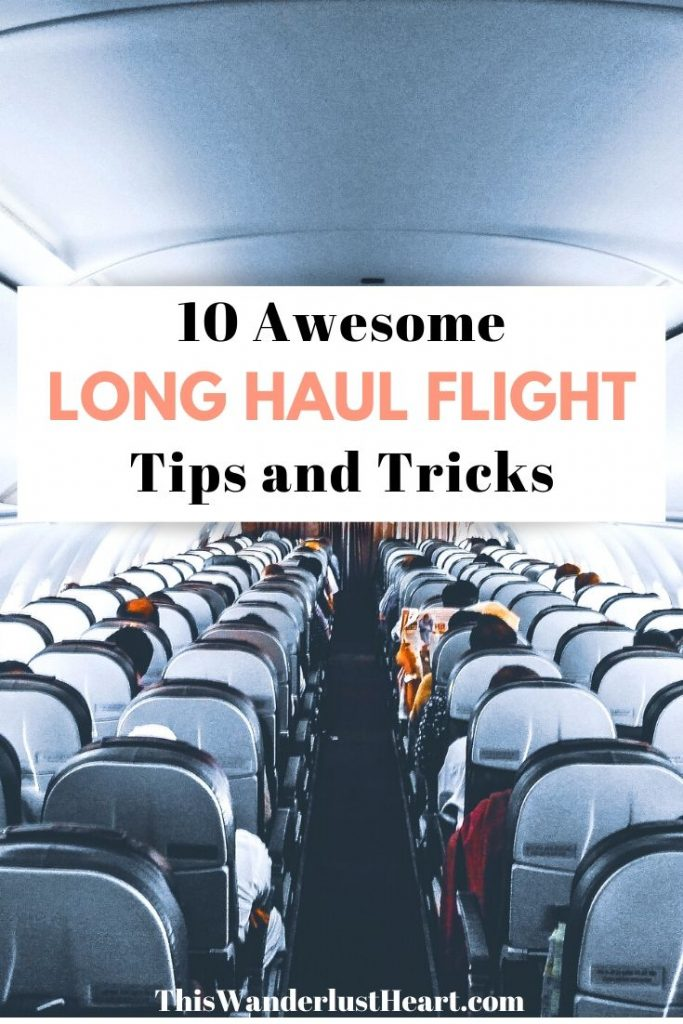 10 Tips for surviving long international flights | what to do on long flights | tips for flying internationally | what to do on an overnight flight | travel tips for flying | best things to do on a plane | how to sleep on a plane #flying #longflighttips